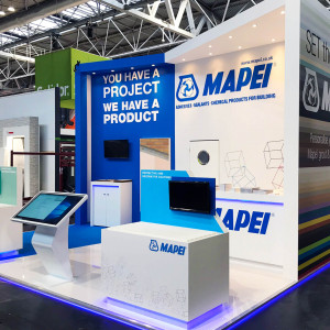 Bespoke exhibition stand for Mapei