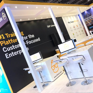 Bespoke exhibition stand for Litmos