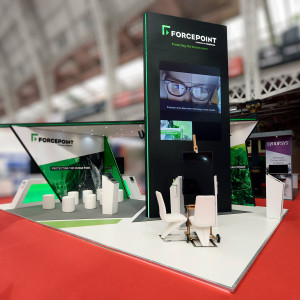 Bespoke exhibition stand for Forcepoint