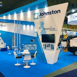 Bespoke exhibition stand for Johnston Sweepers