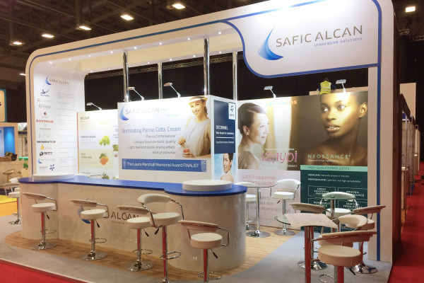 Hybrid exhibition stand for Safic Alcan