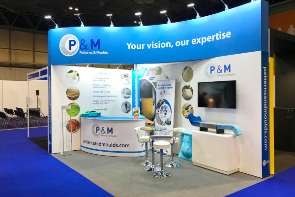 Hybrid exhibition stand for Patterns & Moulds