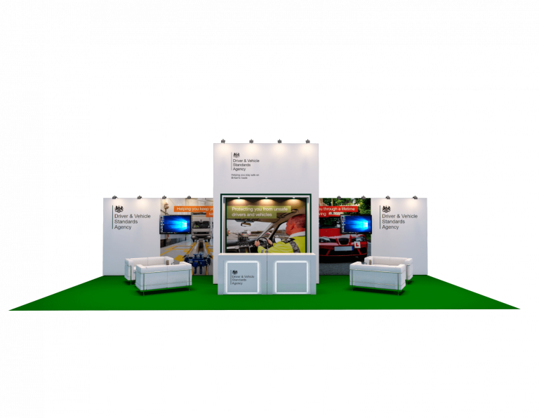 Hybrid exhibition stand for DVSA