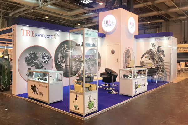 Hybrid exhibition stand for Tre Products