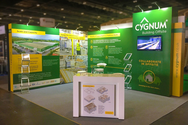 Modular exhibition stand for Cygnum