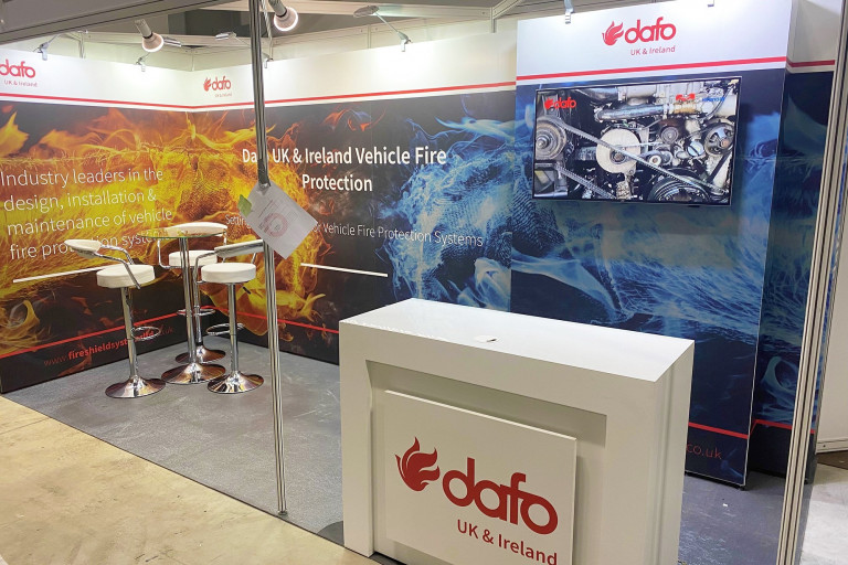 Modular exhibition stand for Fire Shield