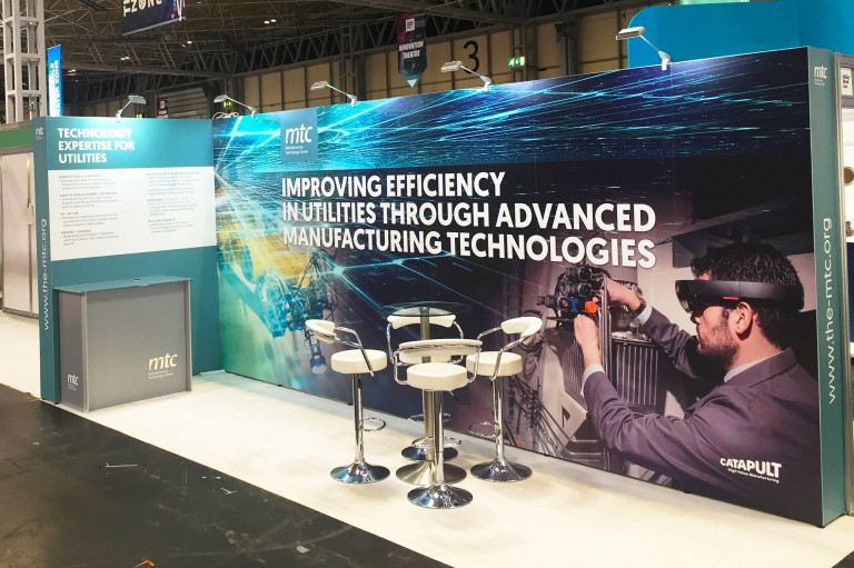 Modular exhibition stand for MTC