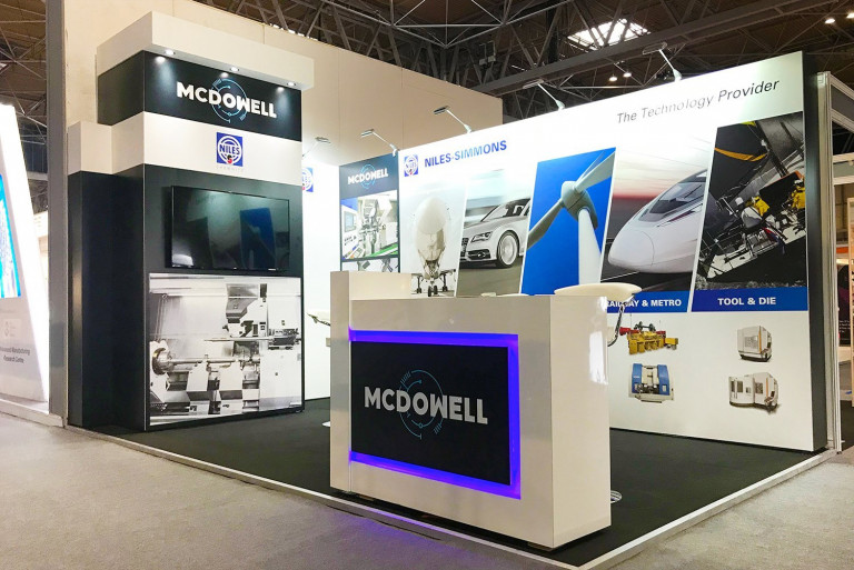Modular exhibition stand for McDowell