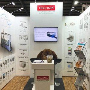 Modular exhibition stand for Technik Technology