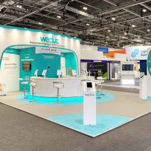 Bespoke exhibition stand for WeDuc
